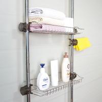 샴푸거치대 욕조위선반 400 3단 무타공욕실선반 기둥식 목욕탕 화장실 수납