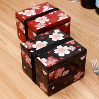 벚꽃 2단 정사각도시락(2color) lovesweety