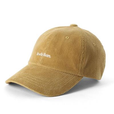 Bubilian logo corduroy ball cap -black