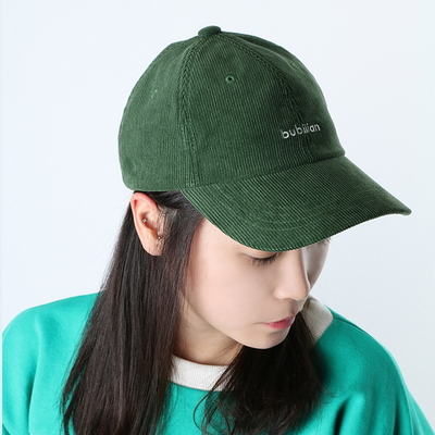 Bubilian logo corduroy ball cap -green