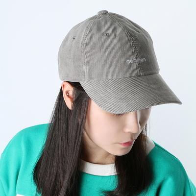 Bubilian logo corduroy ball cap -gray
