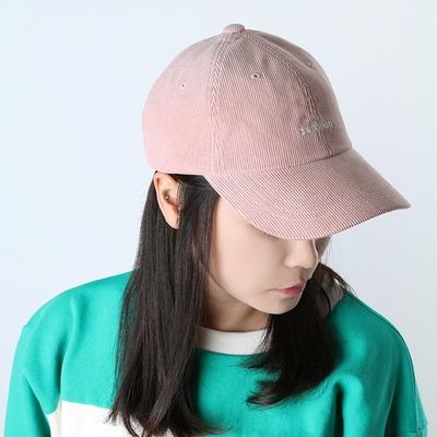 Bubilian logo corduroy ball cap -pink