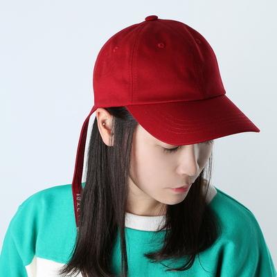 Bubilian long strap ball cap -red