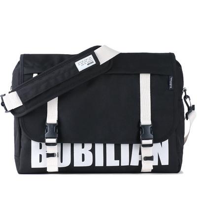 bubilian 로고 메신저백 -black
