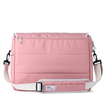bubilian 로고 메신저백 -pink