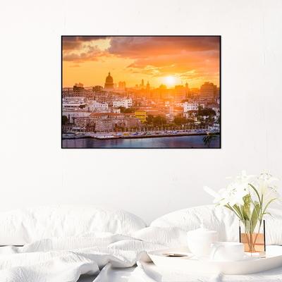 하바나에 내리는 석양 - 인테리어 포스터