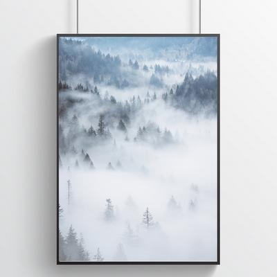안개의 숲 - 힐링 인테리어포스터 (a4)