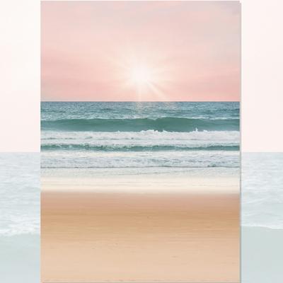 밀려오는 바다 사진포스터 (a1)