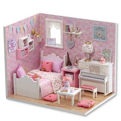 DIY 미니어처 하우스 핑크블루