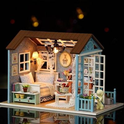 [adico] DIY 미니어처 하우스 - 레트로 침실