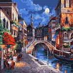 Z082 베네치아의 어느카페풍경 DIY명화그림그리기