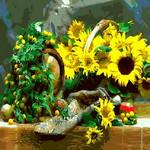 Q692 햇살가득해바라기꽃  DIY명화그림그리기