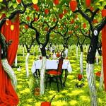 Q540 딸기나무와시간  DIY명화그림그리기