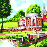 B220 강가의전원풍경 DIY명화그림그리기