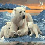 B832 북극곰가족  DIY명화그림그리기