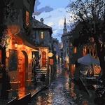 Q1307 밤의풍경 DIY명화그림그리기