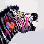 Q1184 무지개빛얼룩말 DIY명화그림그리기