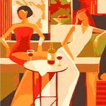 B586 카페에서 DIY명화그림그리기