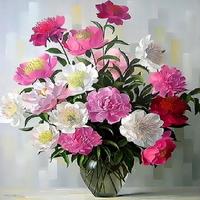Q3351 꽃정물화 size 40x50cm DIY그림그리기
