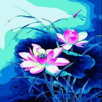 B134연꽃 size 40x50cm DIY그림그리기
