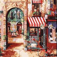 B995테이크아웃 Little coffe shop  DIY명화그림그리기