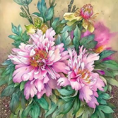 Q3376목단꽃size 40x50cm DIY명화그림그리기