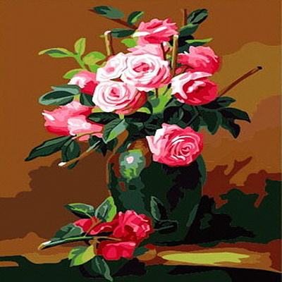 E049꽃정물화 size 40x50cm DIY명화그림그리기