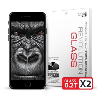 레볼루션글라스 2.5D 풀커버 강화유리 아이폰7플러스