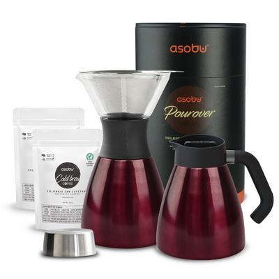 캐나다 아소부 NEW 푸어오버 커피메이커+분쇄원두2팩