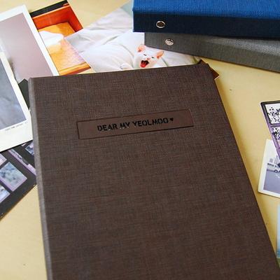 THE MOMENT 제이로그 접착식앨범X스크랩북 바인더-초코브라운