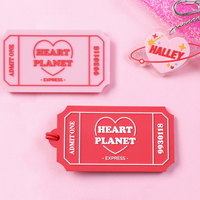 HEART PLANET TICKET NAMETAG
