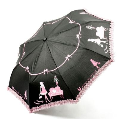 [더로라]아놀드 파마 3단 전자동 우산 - 프린세스 걸 E532