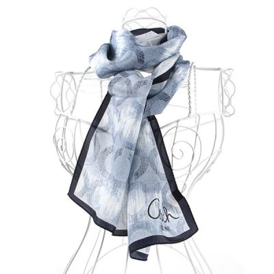 [더로라]준중형 실크 스카프- 블루 러시 S6063