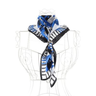 [더로라]정사각실크쁘띠스카프- 올리브패션 S6259