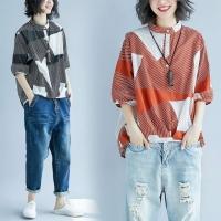 셔츠 - 기하학 패턴 셔츠 YE8057
