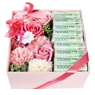 꽃다발 용돈 박스 - 어버이날 용돈박스 MUU905