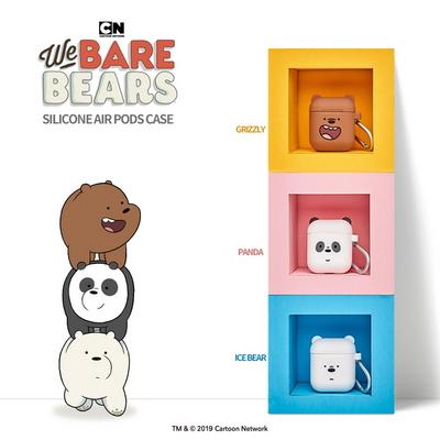 WE BARE BEARS정품 위 베어 베어스 실리콘 에어팟 케이스