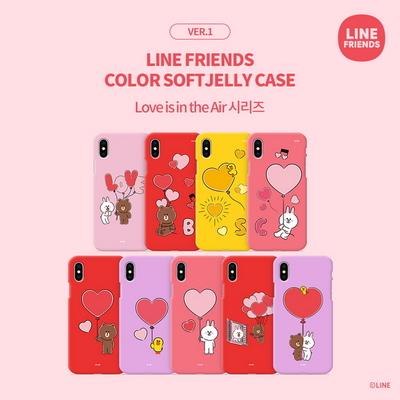 LINE FRIENDS정품 컬러 소프트 젤리 러브 이즈 인 디 에어 시리즈 VER.1