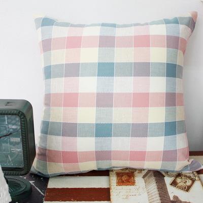선염 파스텔체크 쿠션 - 4color