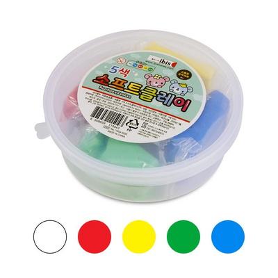 아이비스 2500 5색 소프트클레이(CR) 어린이집선물 촉감놀이