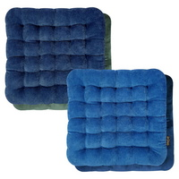 아이비스 12000 사계절슬림양면방석4(SP)-블루/네이비 양면 사무실 학생방석