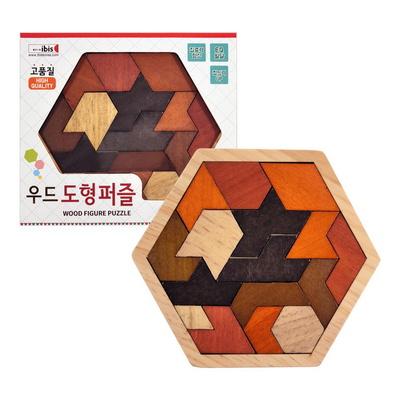 아이비스  12000 우드도형퍼즐(SP)  집중력 창의력 원목 나무 장난감