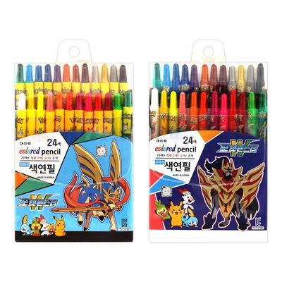 9000 포켓몬스터W 색연필 24색