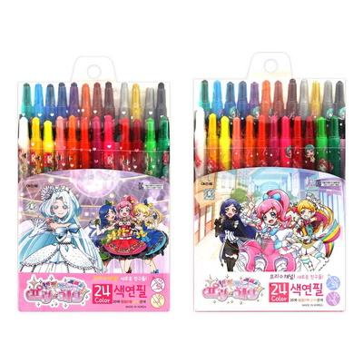 9000 반짝이는 프리채널 색연필 24색