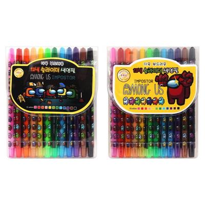 5000 어몽어스 12색 슬라이더 색연필