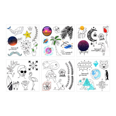 500 감성적인 타투 스티커 문신 판박이