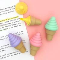 미니 아이스크림 형광펜 4컬러 세트 필기구 문구