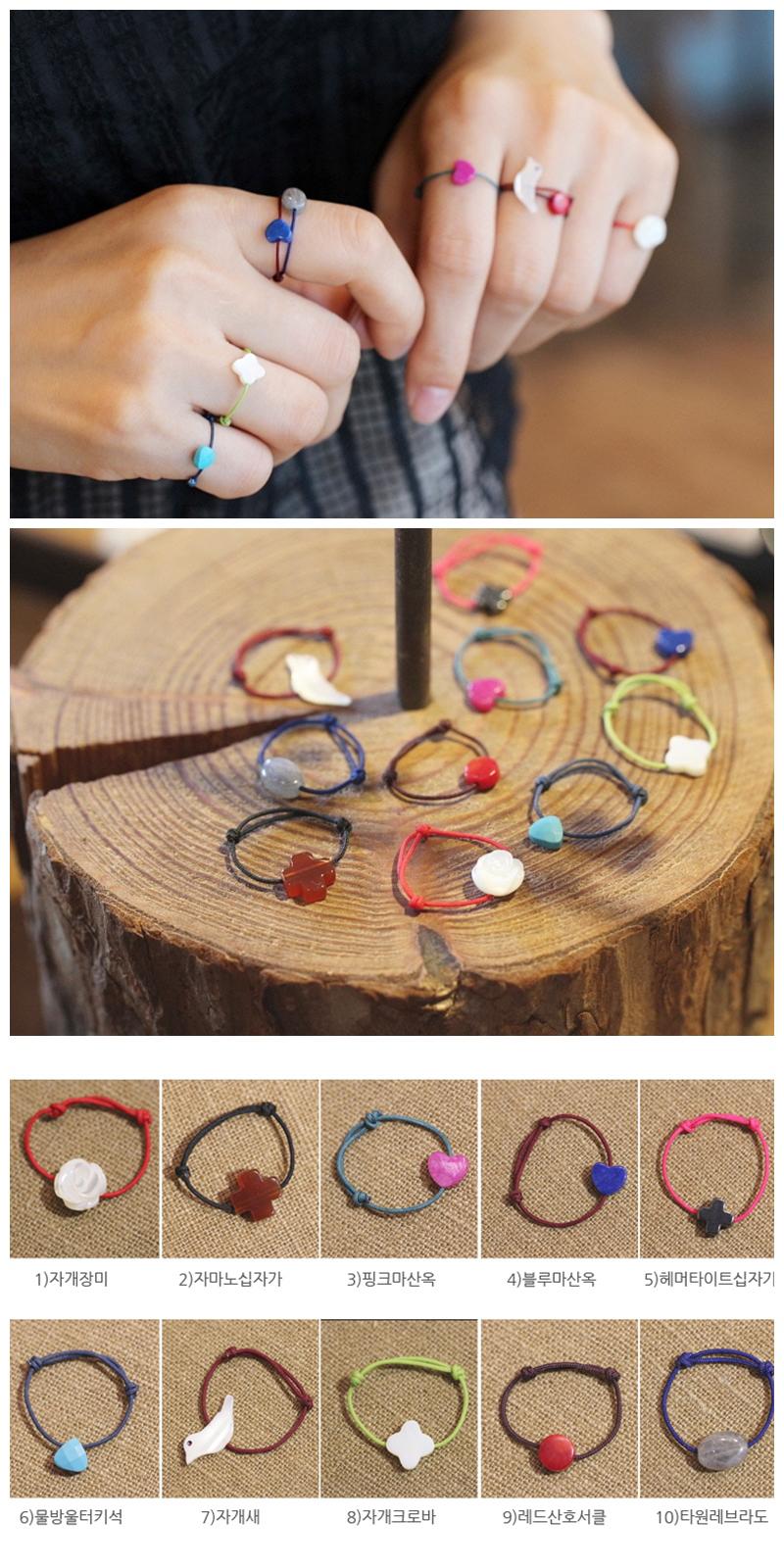 원석 소원 실반지 - 은나무, 6,000원, 패션, 패션반지