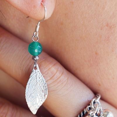 추마노 나뭇잎장식귀걸이(5월의 귀걸이)