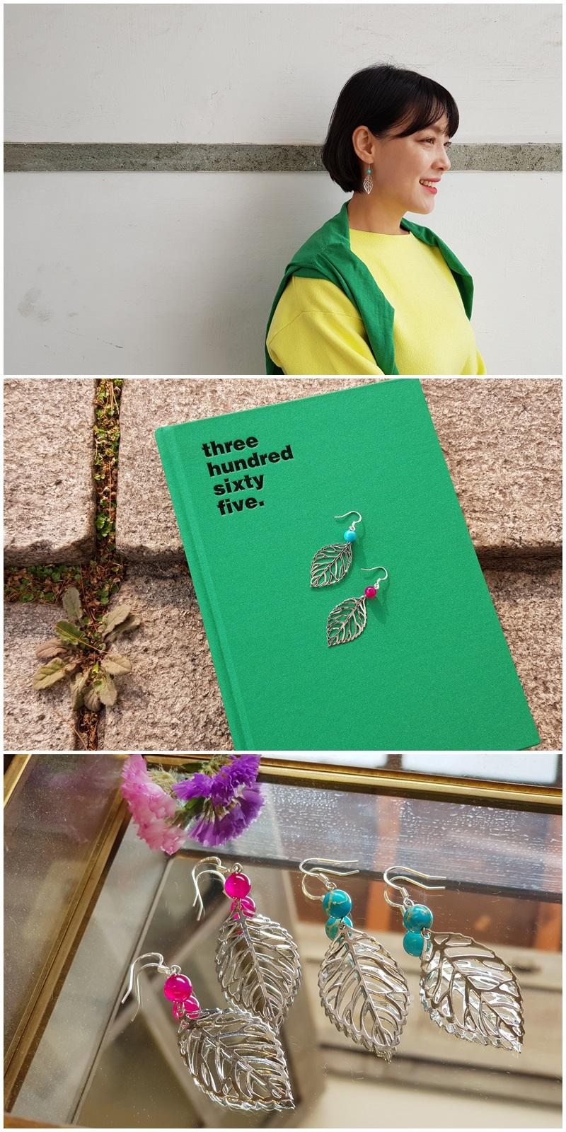 원석나뭇잎귀걸이 - 은나무, 19,000원, 진주/원석, 드롭귀걸이